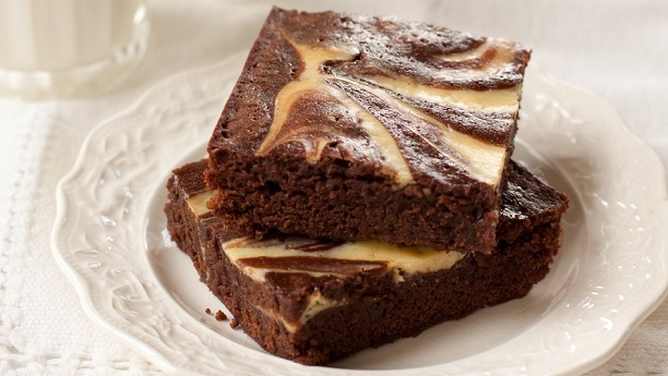 Apricot Cream Cheese Chocolate Brownies