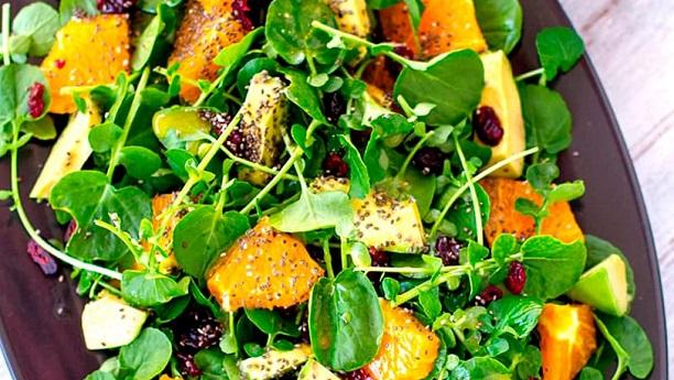Avocado, Orange and Watercress Salad