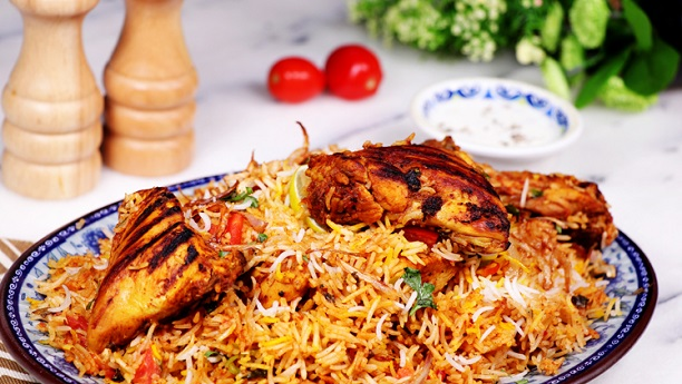 BBQ chicken biryani