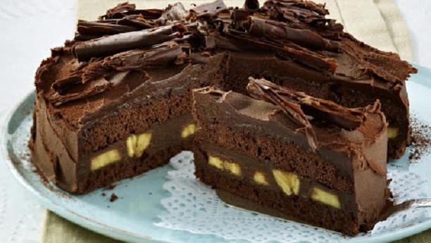 بنانا چاکلیٹ کیک