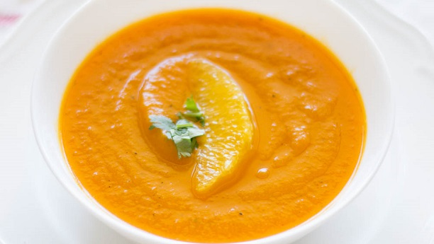گاجر اور کینوں کا سوپ