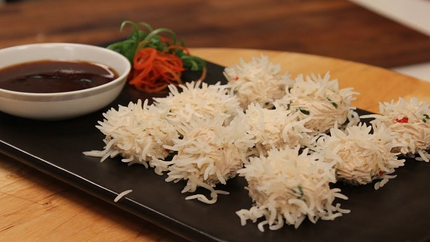 Chicken Rice Flower Dumplings