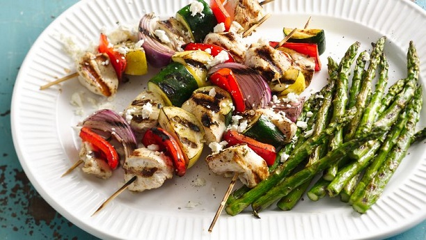 Chicken and Vegetable Kababs
