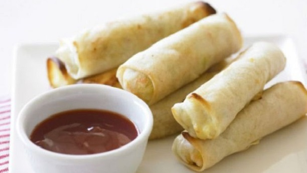 Chicken and Vegetable Spring Roll