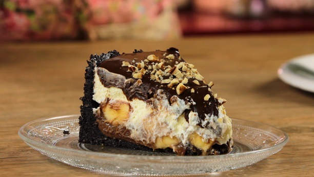 Chocolate Banana-Split Pie