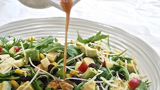 Granny Smith Apples and Avacado Salad with Cilantro Oil