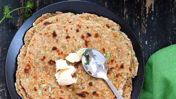 Grated white Gourd paratha