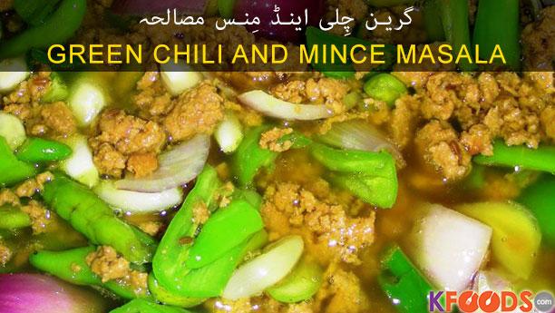 Green Chili And Mince Masala