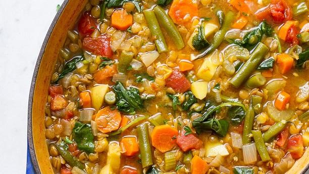 Hearty Lentil Vegetable Soup