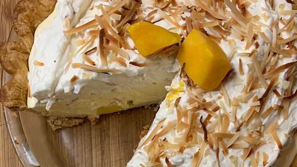 Mango Chiffon Pie
