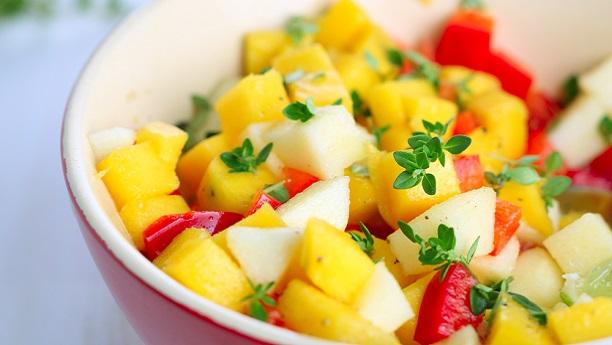 Mango Cocktail Salad By Chef Fauzia