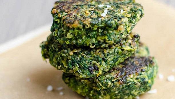 Mung Bean & Spinach Patties