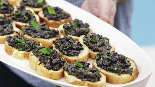 Mushroom Olive Crostini