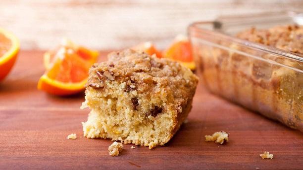 Orange crumbled cake