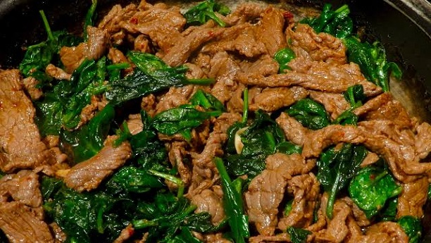 Spinach With Meat