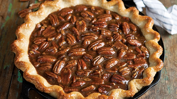Sweet Potato Pie With Caramel Nut