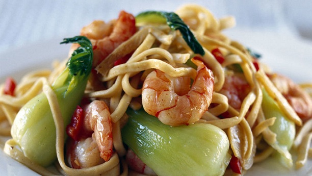 Sweet and Sour prawn Noodles