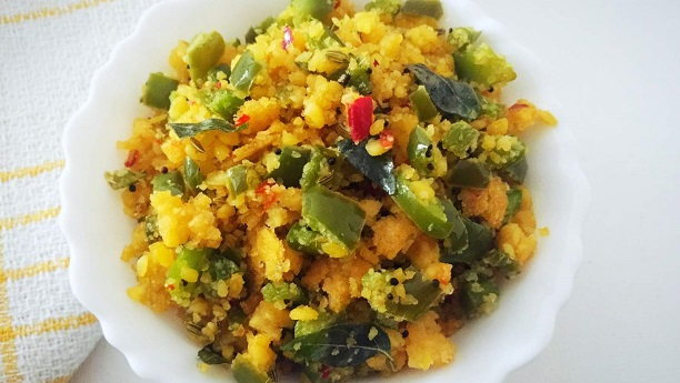 Capsicum with Moong Dal