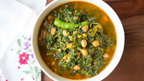 Colocasia Leaves with Sour Dal