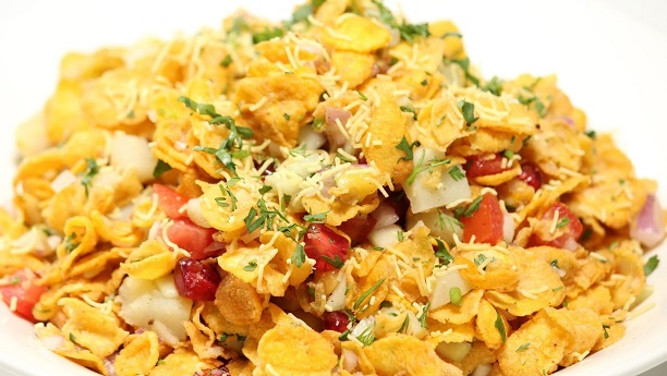Corn Flakes Chaat