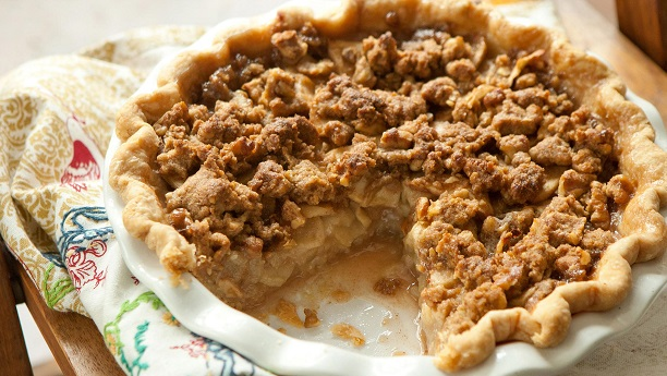 Crumble Topped Apple Pie