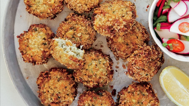 Fish Cakes with Lemon and Pine Nuts