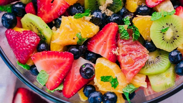 Fresh Fruit Salad with Mint Dressing