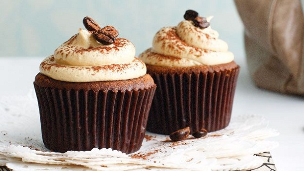 Mocha Cup Cakes with Whipped Cream