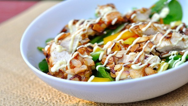 Mustard Almond Chicken Salad