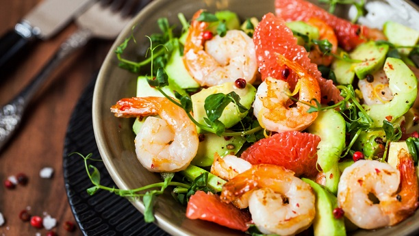 PRAWNS WITH GRAPEFRUIT