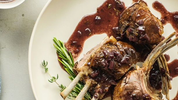 Royal Lamb with a Creamy Almond Sauce