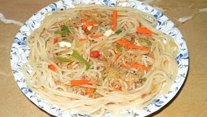 Chicken Vegetable Spaghetti Recipe