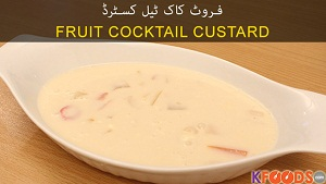 Fruit Cocktail Custard Recipe