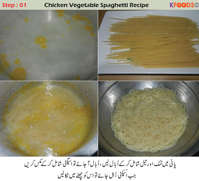 Chicken spaghetti recipe in urdu english pakistani style spaghetti spaghetti recipe in urdu forumfinder