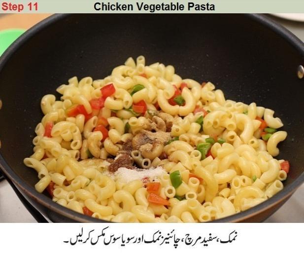 chicken veg pasta