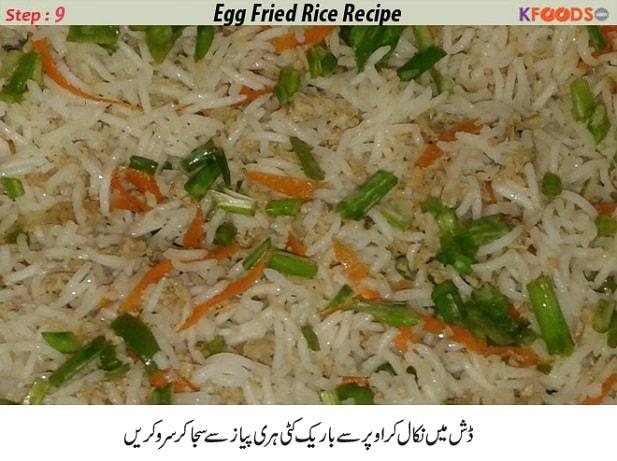 egg vegetable rice recipe in urdu