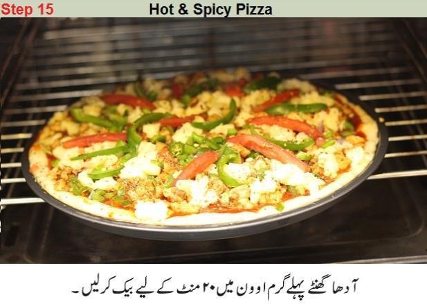preparing homemade pizza