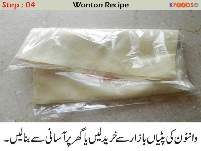 chicken wonton recipe in urdu