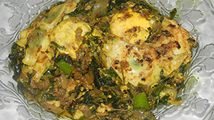 Anda Methi Bhaji Recipe