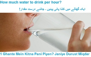 How Much Water to Drink Hourly