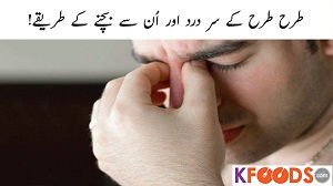 Head Pain Types and Location in Urdu