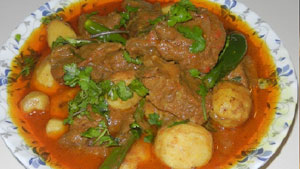 Make Arvi Gosht Recipe