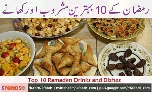 Top 10 Ramadan Snacks and Drinks Recipes