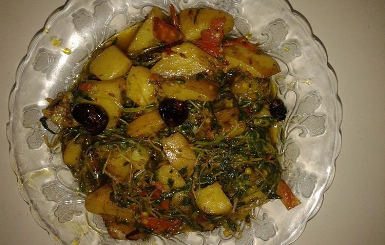 potato fenugreek recipe in urdu