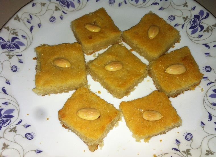 basbousa recipe with oven