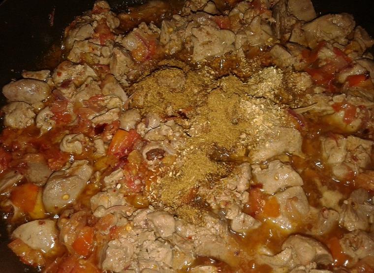 chicken kaleji step by step