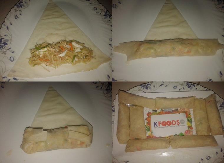 chicken sabzi ke rolls