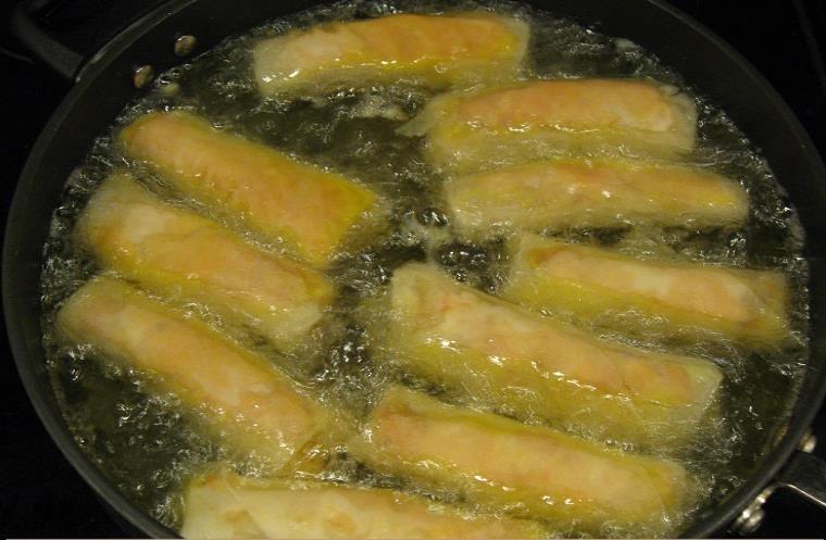 preparing chicken veggie rolls