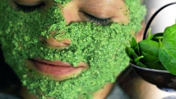 Homemade Spinach (Palak) Face Mask