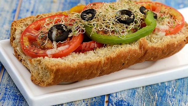 Alfa Alfa Sprouts Open Sandwich